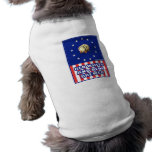 Red White And Blue Wine Brewer Dog Tee Shirt