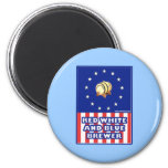 Red White And Blue Wine Brewer Fridge Magnet