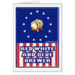 Red White And Blue Wine Brewer Greeting Card