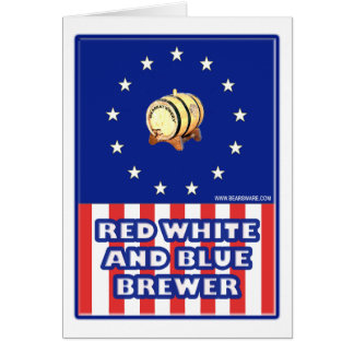 Red White And Blue Wine Brewer Greeting Cards