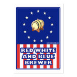 Red White And Blue Wine Brewer Large Business Card