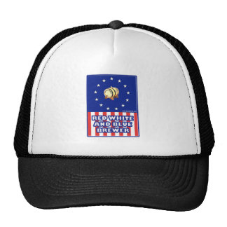 Red White And Blue Wine Brewer Mesh Hats