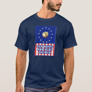 Red White And Blue Wine Brewer T-Shirt
