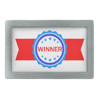 Red, White and Blue Winner Ribbon Belt Buckle