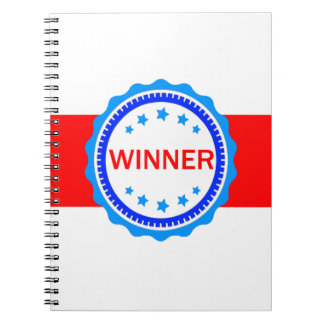 Red, White and Blue Winner Ribbon Notebook