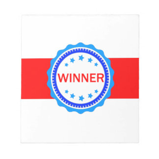 Red, White and Blue Winner Ribbon Notepad