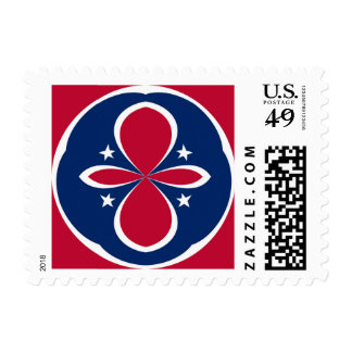 Red, White, and Blue with Red corners Postage