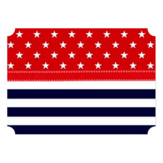 Red White and Blue with White Stars & Stripes Card