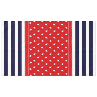 Red White And Blue With White Stars U0026amp; Stripes Tablecloth