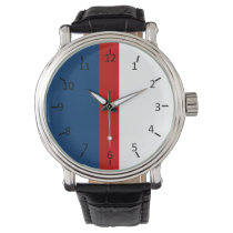 Red White and Blue Wrist Watch