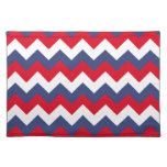Red White and Blue Zigzag Cloth Placemat
