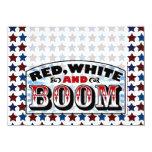 Red White and Boom 4.5x6.25 Paper Invitation Card
