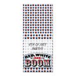 Red White and Boom 4x9.25 Paper Invitation Card