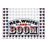 Red White and Boom 5x7 Paper Invitation Card