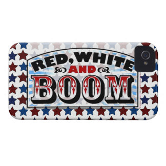 Red White and Boom iPhone 4 Case