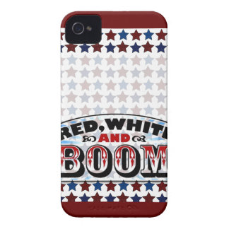 Red White and Boom iPhone 4 Case-Mate Case