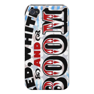 Red White and Boom iPhone 4 Cases