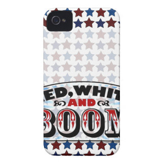 Red White and Boom iPhone 4 Covers