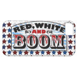 Red White and Boom iPhone 5 Cases