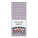 Red White and Boom Personalized Announcement