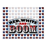 Red White and Boom Postcard