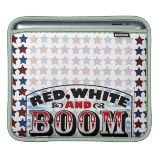 Red White and Boom Sleeve For iPads