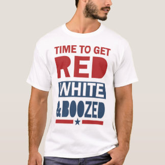 Red White and Boozed - Funny 4th of July Shirt
