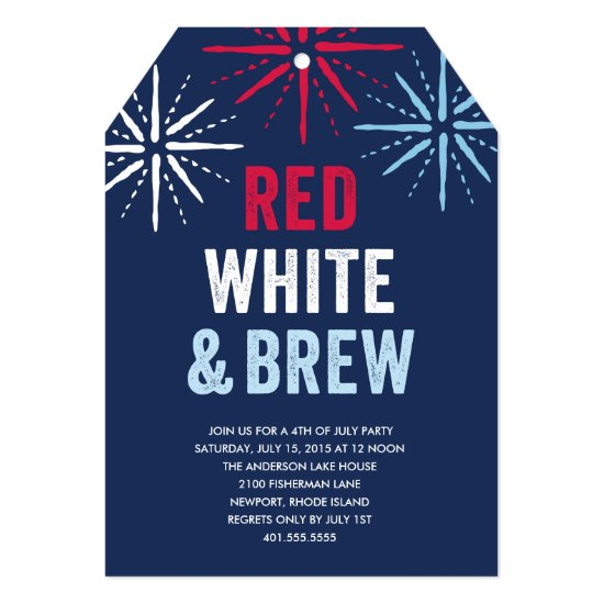 Red White and Brew Fourth of July Card