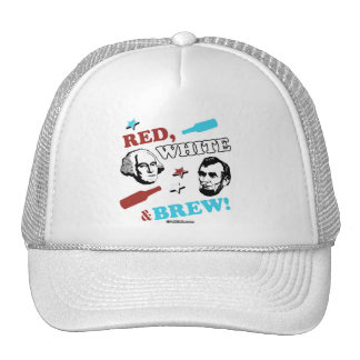 Red White and Brew Trucker Hat