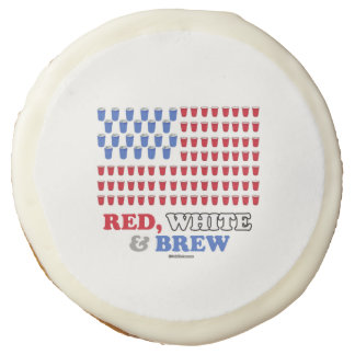 Red White and Brew Sugar Cookie