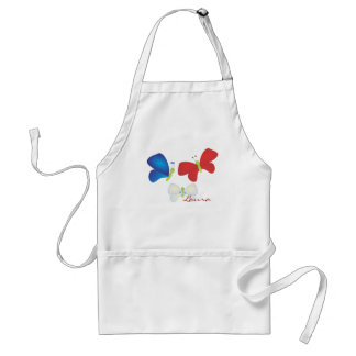 Red, White and Butterflies Adult Apron
