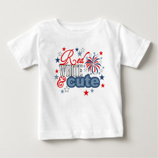 Red White and Cute kiddie shirt 4th of July