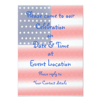 Red, white and denim Party Invitation