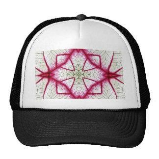 Red, White and Green Caladium Kaleidoscope Hats