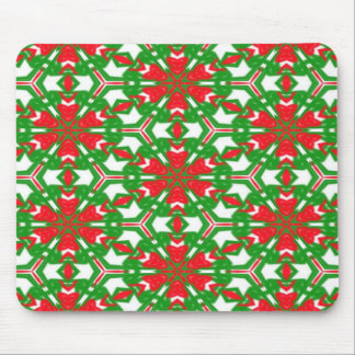 Red, White and Green Kaleidoscopes 3373 Mouse Pad