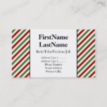 [ Thumbnail: Red, White and Green Stripes Card ]