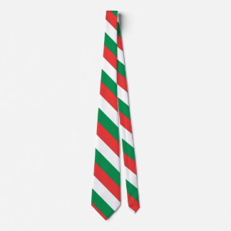 Red, White and Green Tie