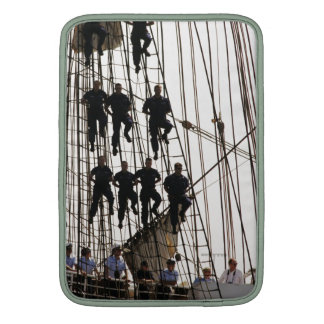 Red White and Hang On Sailors on Tall Ship Sleeve For MacBook Air