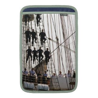 Red White and Hang On Sailors on Tall Ship Sleeves For MacBook Air