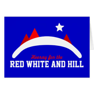 Red White and Hill Card