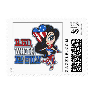 Red, White and Hula Postage