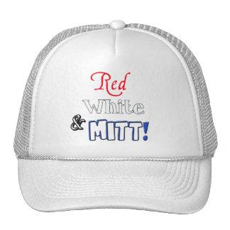 Red, White, and Mitt! Trucker Hat