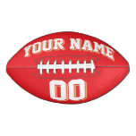 RED WHITE AND OLD GOLD Custom Football