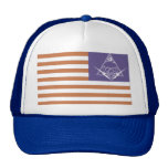 red white and paranoid trucker hat