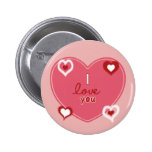 Red, White and Pink Hearts Buttons