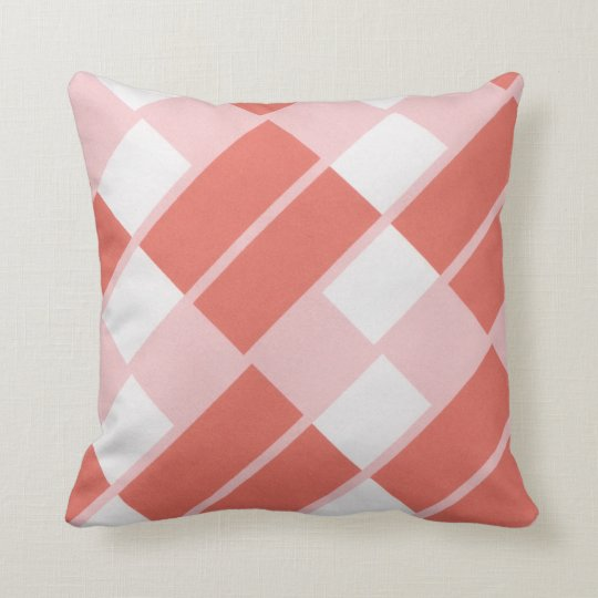 Red, white and pink toss pillow