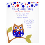 Red White and Who Owl Personalized Announcements