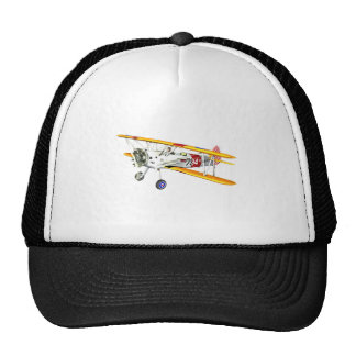 Red White and Yellow Military Training Biplane Trucker Hat