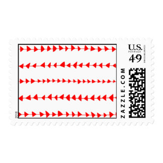 Red White Aztec Arrows Pattern Stamp