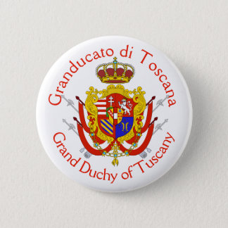 Red White Banner Grand Duchy of Tuscany Button